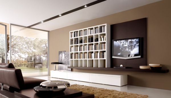 wohnzimmer modern braun wei. Black Bedroom Furniture Sets. Home Design Ideas