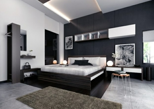 einrichtungsideen f rs schlafzimmer modern elegant und gem tlich. Black Bedroom Furniture Sets. Home Design Ideas
