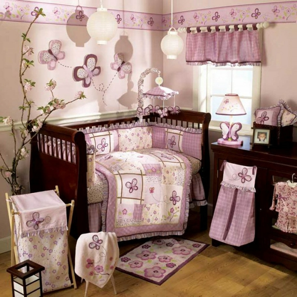 babyzimmer gestalten m dchen ideen dekoration deen. Black Bedroom Furniture Sets. Home Design Ideas
