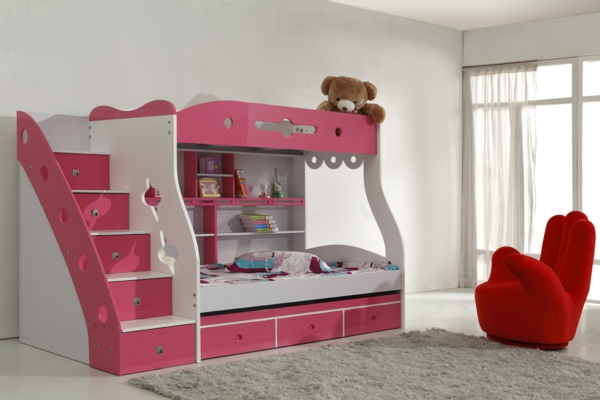 kinderbett mit schubladen funktionalit t ist modern. Black Bedroom Furniture Sets. Home Design Ideas