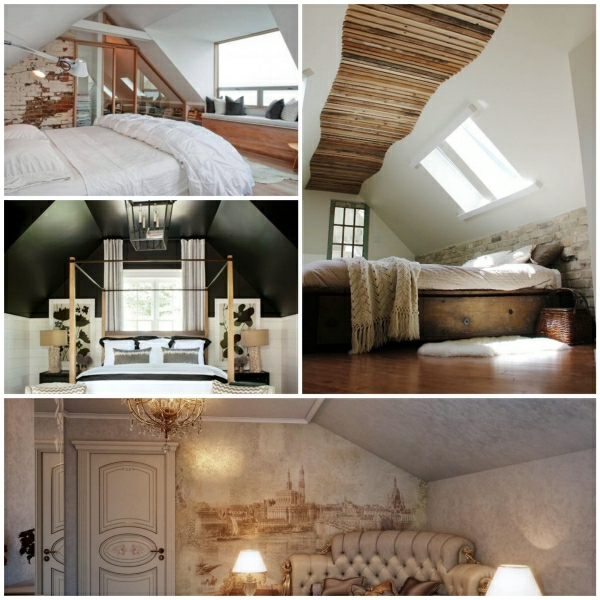 bedroom in the attic decorating ideas - Wandgestaltung im Schlafzimmer Ideen füs Schlafzimmer im