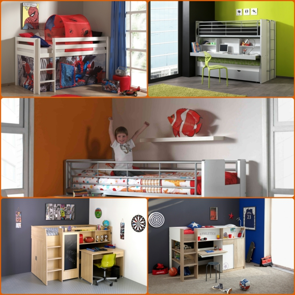 platzsparende kinderbetten kleine kinderzimmer. Black Bedroom Furniture Sets. Home Design Ideas