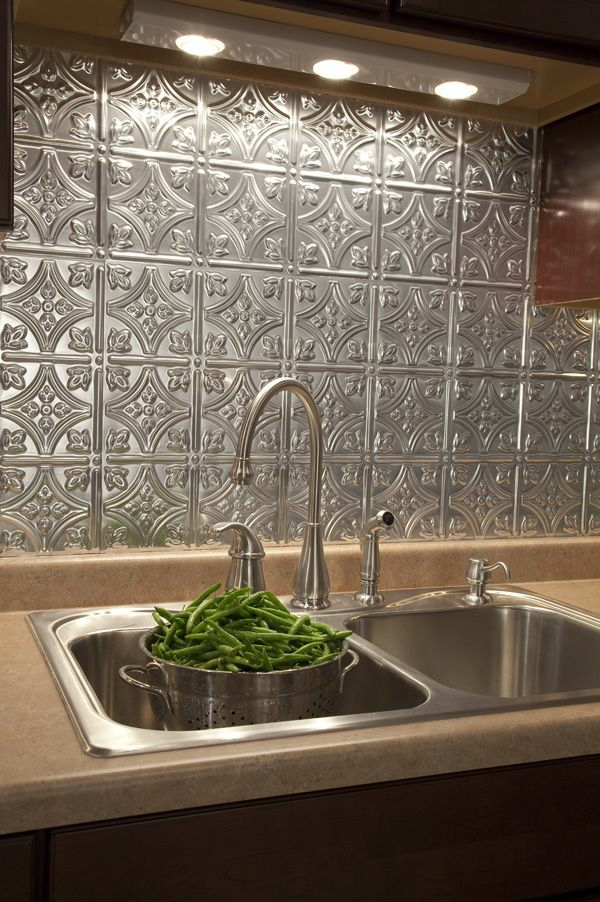 Faux Tile Wallpaper Kitchen