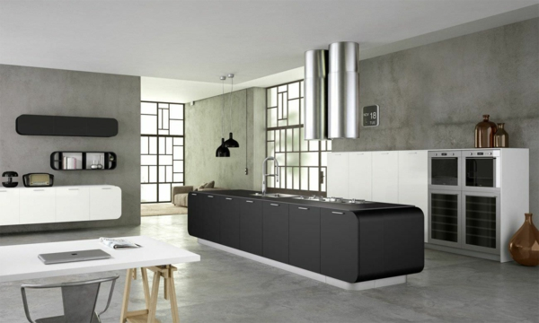Dark Grey Kitchens With Maple Colored Cabinets