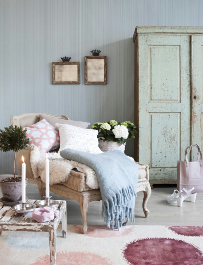shabby chic deko f r eine romantische note in ihrem zuhause. Black Bedroom Furniture Sets. Home Design Ideas