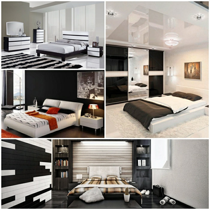 komplettes schlafzimmer in schwarz wei. Black Bedroom Furniture Sets. Home Design Ideas