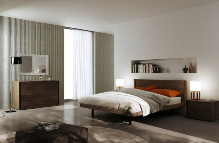 schlafzimmer wandgestaltung farbe. Black Bedroom Furniture Sets. Home Design Ideas