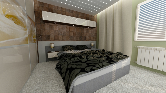 dekotipps die wand hinter dem bett dekorieren. Black Bedroom Furniture Sets. Home Design Ideas