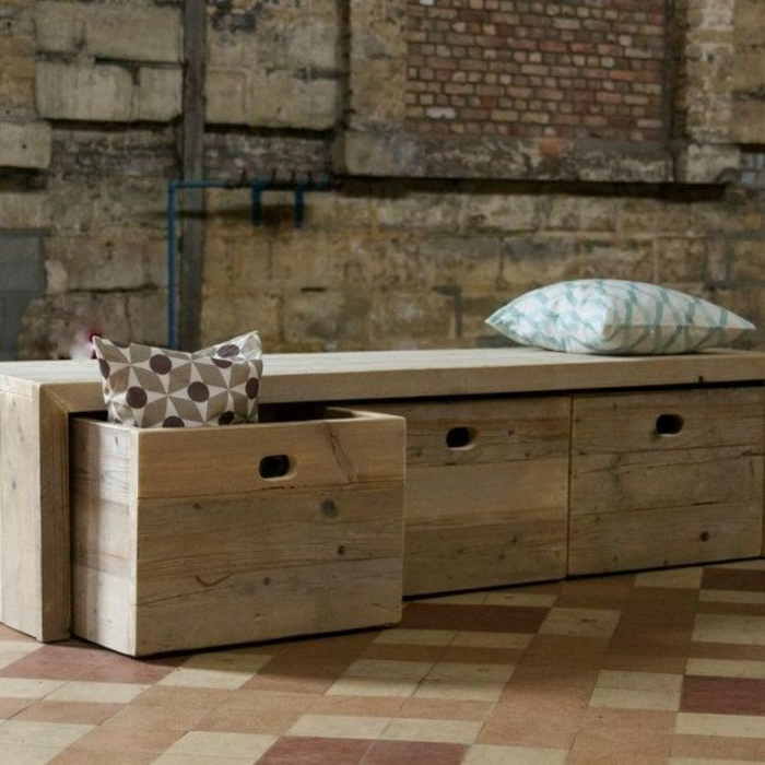 gartenbank holz mit stauraum. Black Bedroom Furniture Sets. Home Design Ideas