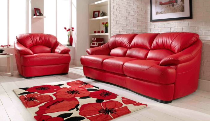 rotes sofa als das passendste m belst ck f r jede einrichtung. Black Bedroom Furniture Sets. Home Design Ideas