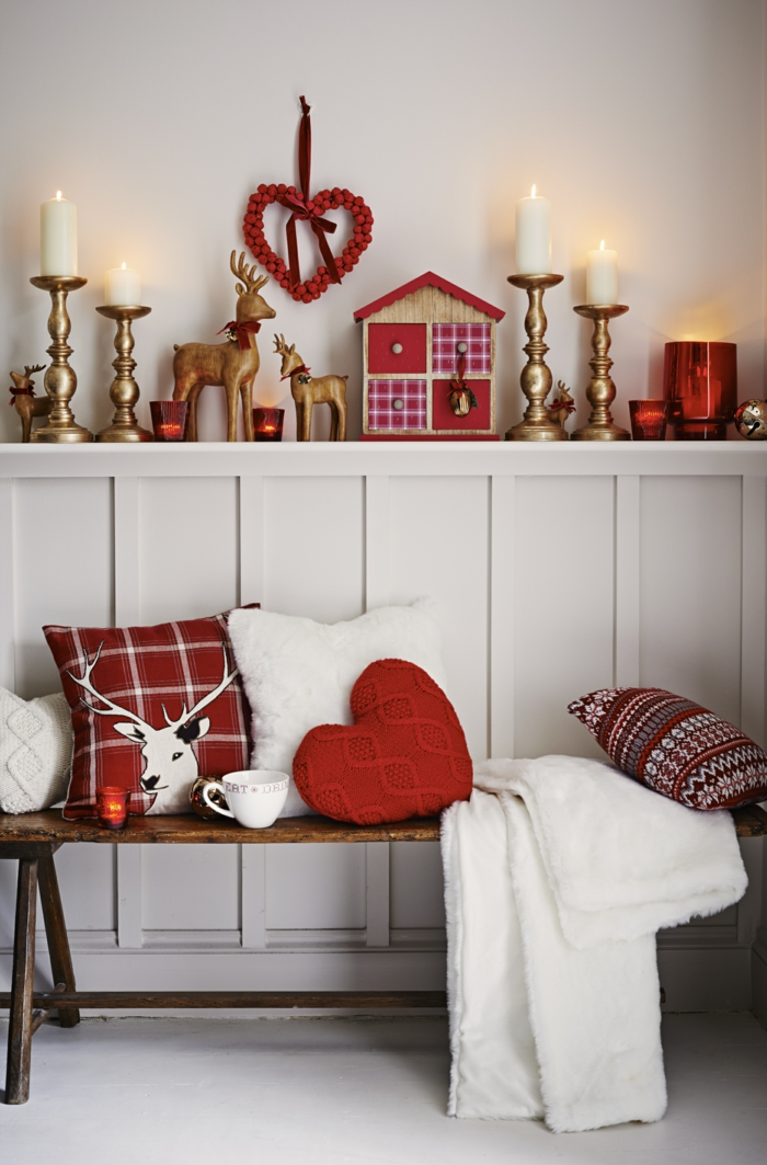 weihnachtsdeko in rot f r eine romantische feststimmung. Black Bedroom Furniture Sets. Home Design Ideas