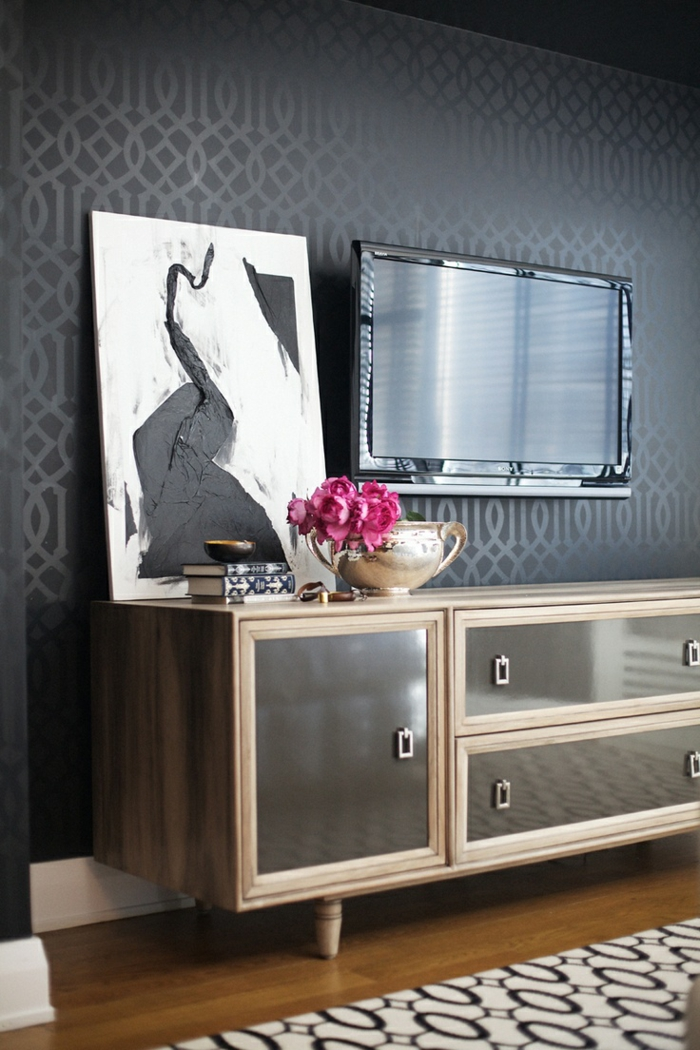 sideboard dekorieren und einen positiven effekt erzielen. Black Bedroom Furniture Sets. Home Design Ideas