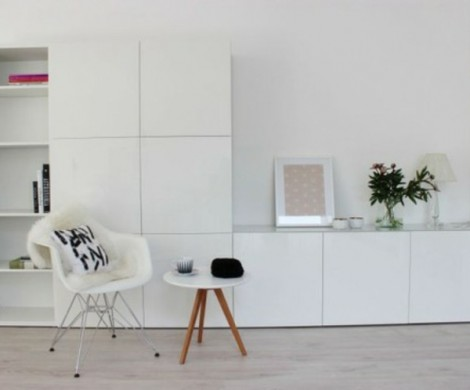 Salon gris scandinave