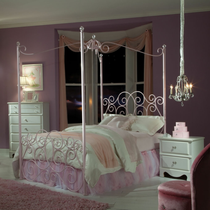 kinderzimmergestaltung 33 m rchenhafte ideen f rs m dchenzimmer. Black Bedroom Furniture Sets. Home Design Ideas
