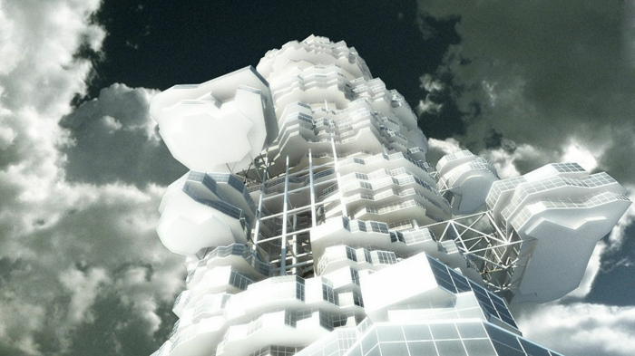 Cloud City futurismus kunst futuristische architektur