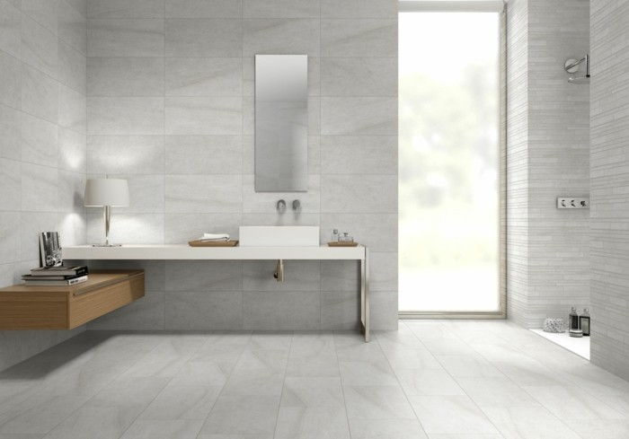 Beige Tiled Bathrooms