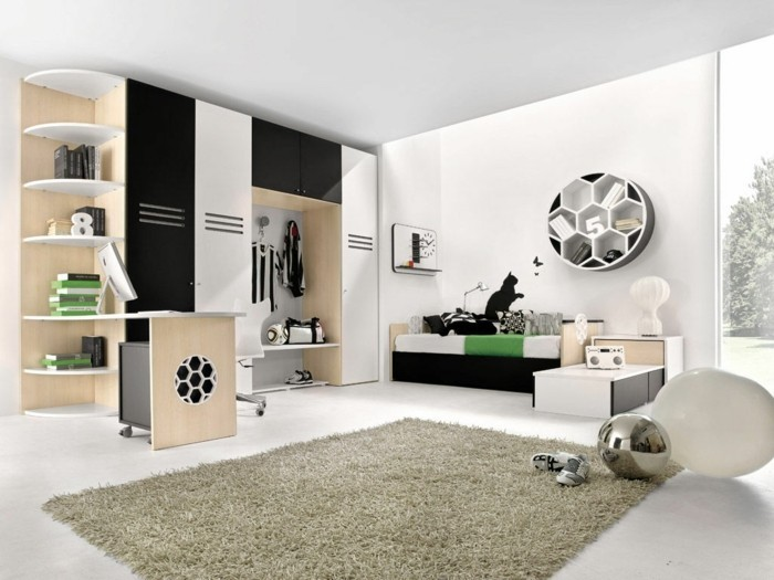 kinderzimmer junge fu ball. Black Bedroom Furniture Sets. Home Design Ideas