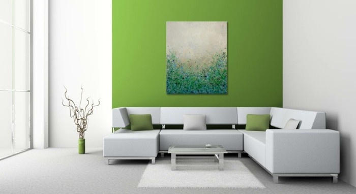 Greenery Design Trends Bild Dekokissen