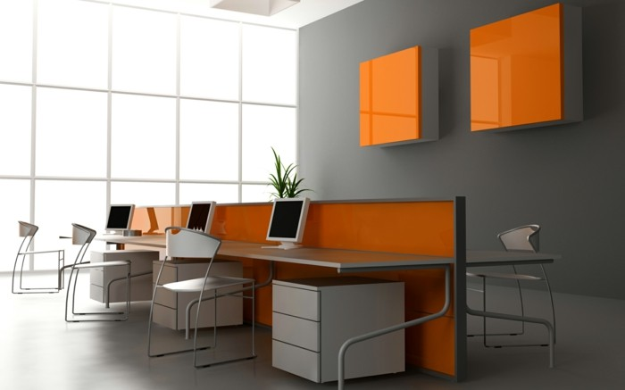 Wandfarben Design orange Office Sternzeichen Wasserman