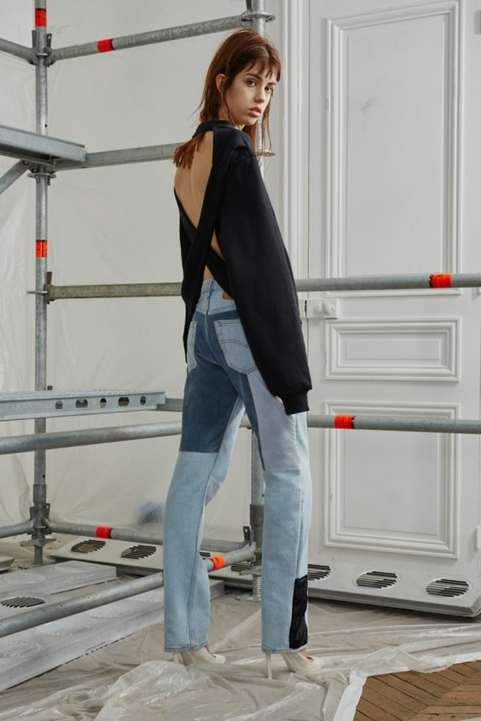 patchwork jeans damen mode trends