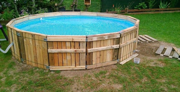 pool im sommer diy