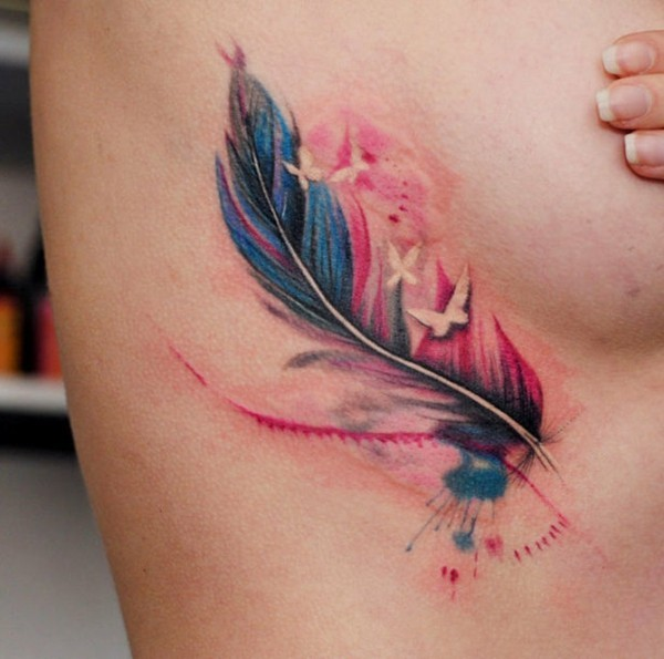 kleine watercolor tattoo ideen
