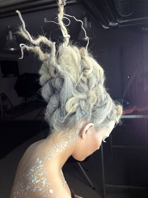 Avantgarde Frisuren Styling Mermaid