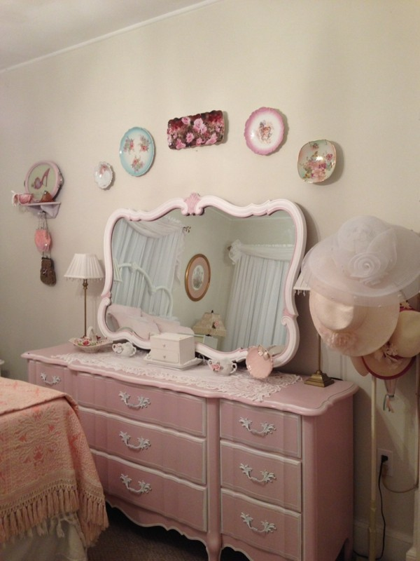 Schlafzimmer Shabby Chic alles rosa