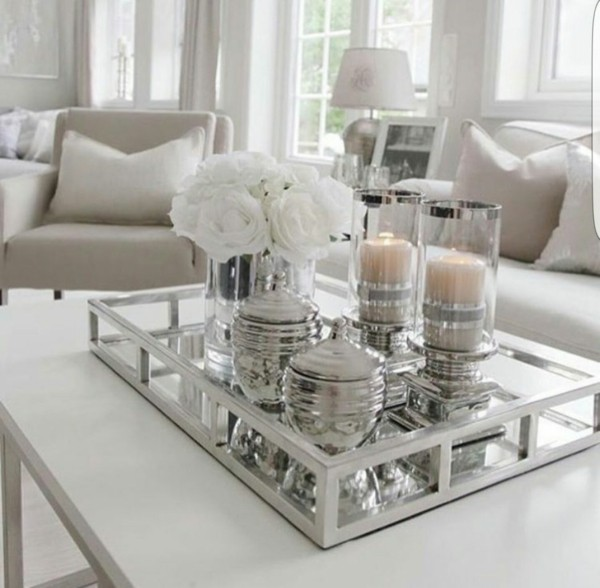"Decorate With Style 16 Chic Coffee Table Decor Ideas: So Können Sie Ein Tablett Dekorieren Und Die ""kleinen"