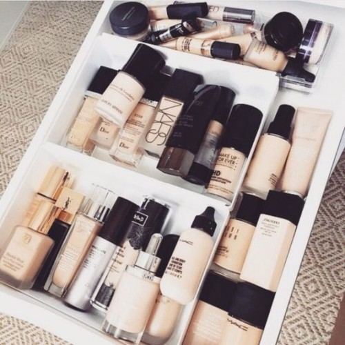 make up organizer ideen liegend