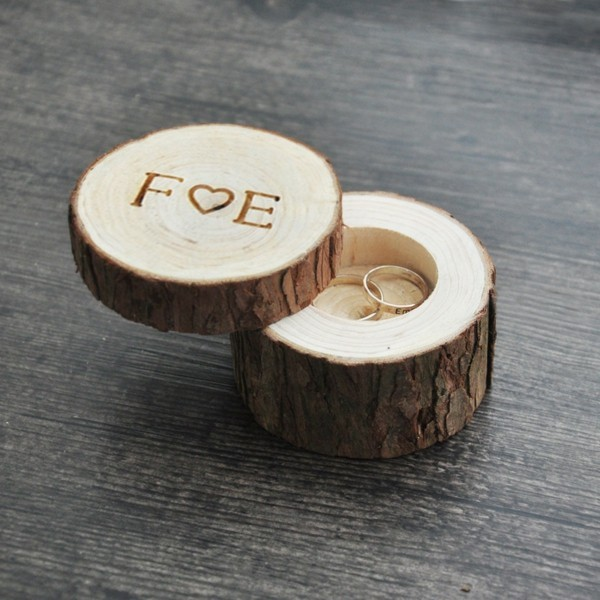 Wooden Wedding Ring Bearer Box