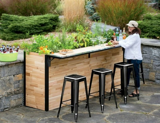 garden bar design Awesome Plant A Bar an outdoor bar made with reclaimed wood that doubles
