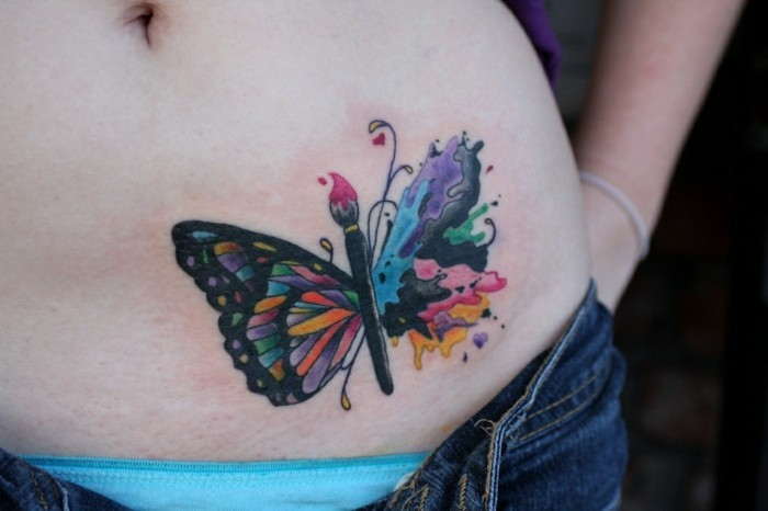 tattoo design ideen schmetterling tattoo