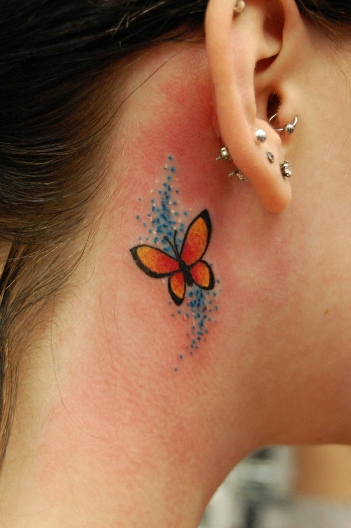 tattoo ideen kleine tattoos schmetterling tattoo