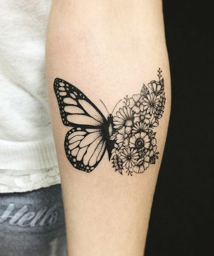 tattoodesign ideen schmetterling tattoo