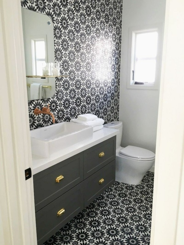 white cement for bathroom tiles Luxury Black and White Cement Tile Bathroom