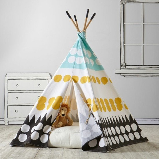 tipi zelt selber bauen und f r eine private kinderspielecke sorgen. Black Bedroom Furniture Sets. Home Design Ideas