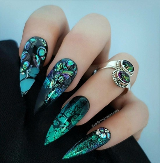 coole nageldesigns fingernägel ideen halloween nägel