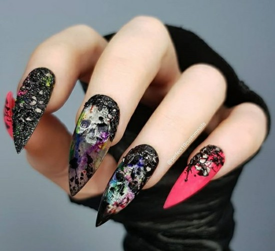 coole nageldesigns halloween nägel halloween fingernägel