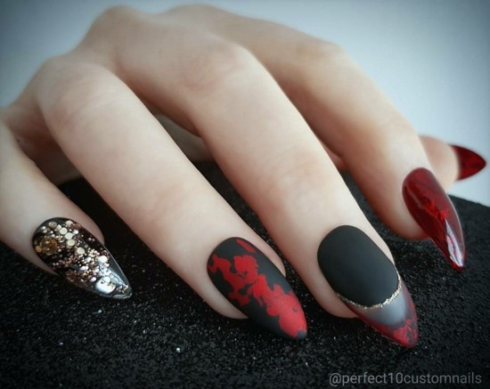 coole nageldesigns halloween nägel nageldesign ideen