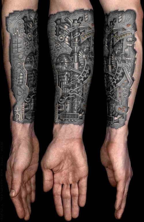 Biomechanik Tattoo unterarm