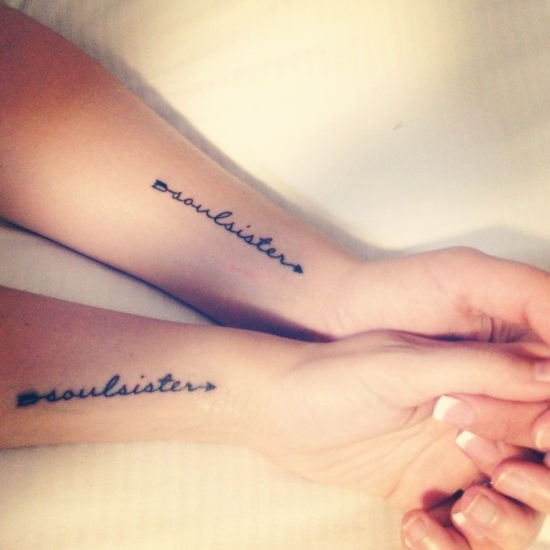 Tattoo Quotes About Sisters Soul Sister | Tattoo Ideas | Pinterest | Tattoo, Soul Sister Tattoos