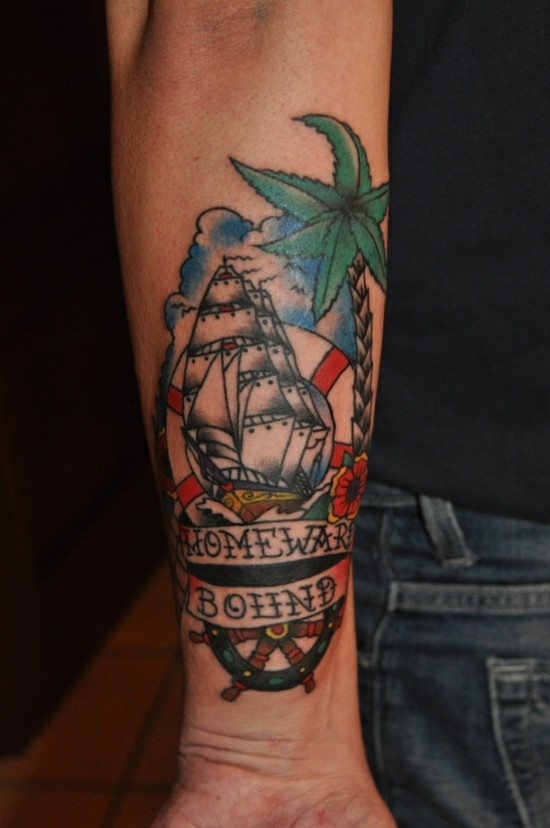 seeleute motive old school tattoo