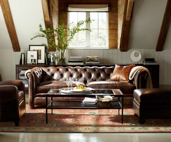 leder chesterfield sofa idee