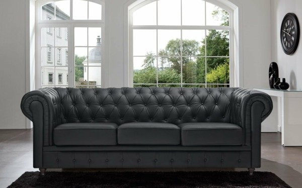 leder sofa chesterfield sofa