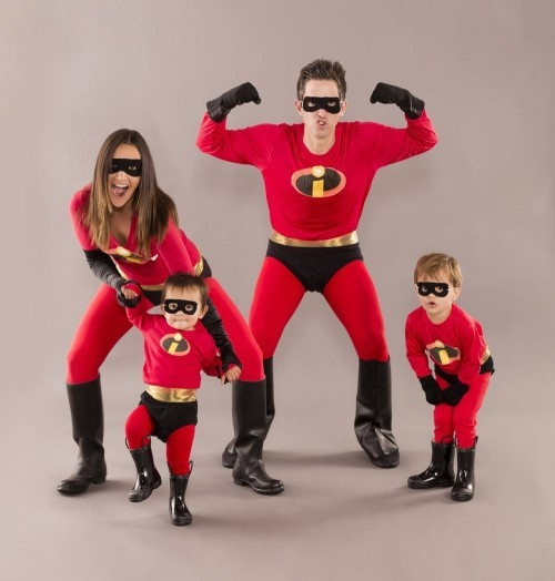 Gruppenkostüme Karneval the incredibles familienkostüm