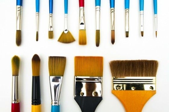 best paint brush brand - Types and Shapes of Art Paintbrushes