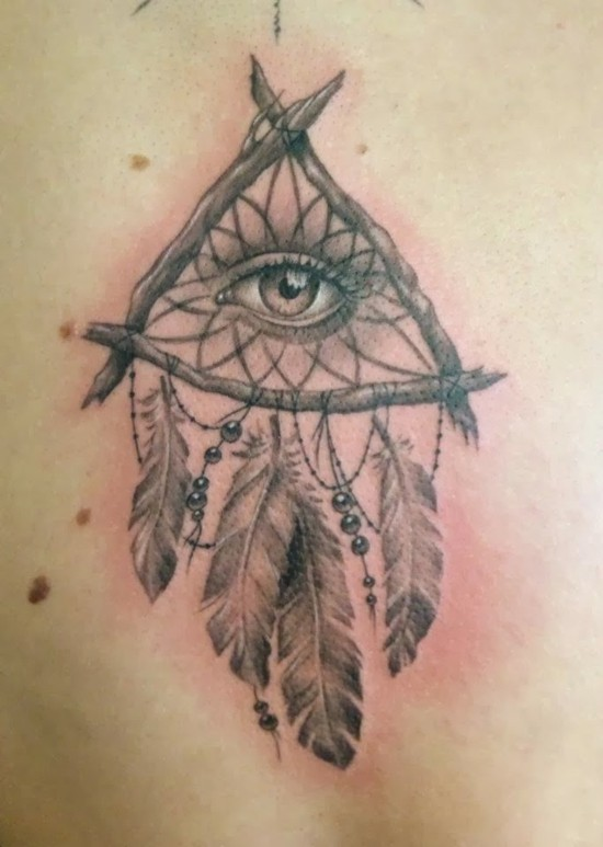 traumfänger tattoo auge tattoo design ideen
